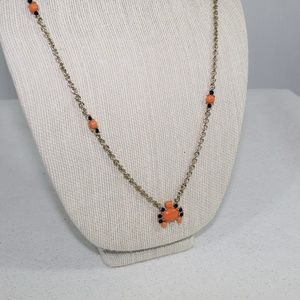 Banana Republic Gold Orange and Navy Blue Necklace
